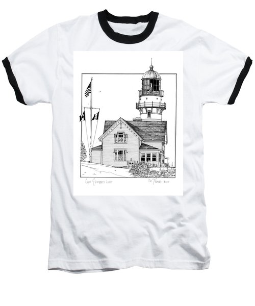 Cape Elizabeth Lighthouse Baseball T-Shirt