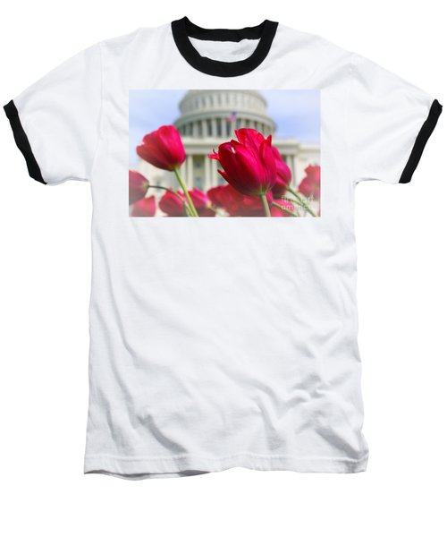 Baseball T-Shirt featuring the photograph Capital Flowers  by John S