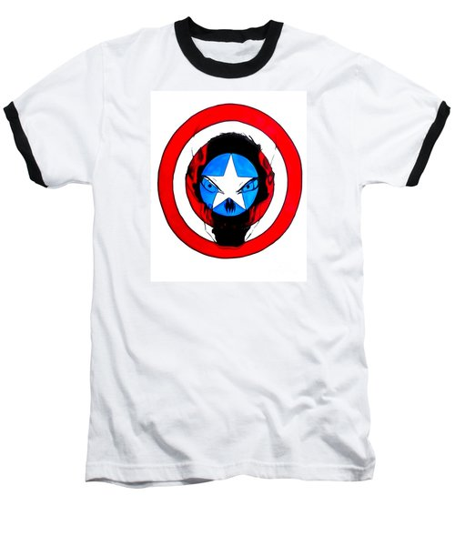 Captain America And Red Skull Baseball T-Shirt by Justin Moore