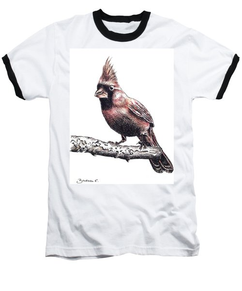 Cardinal Male Baseball T-Shirt by Katharina Filus
