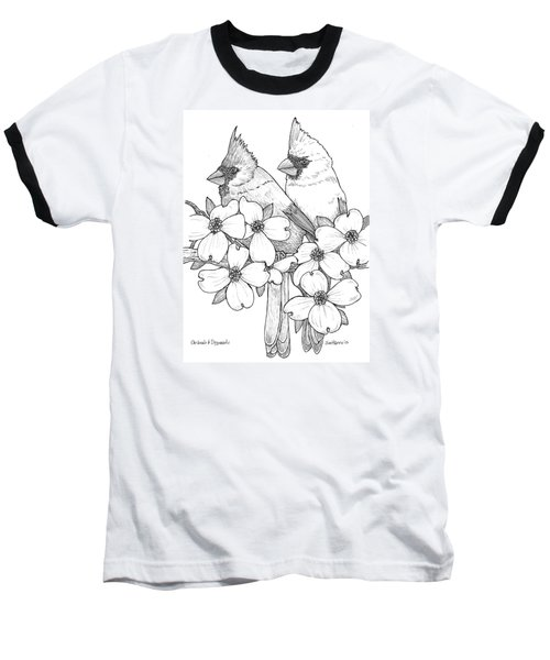 Cardinals And Dogwoods Baseball T-Shirt