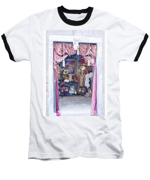 Carnevale Shop In Venice Italy Baseball T-Shirt