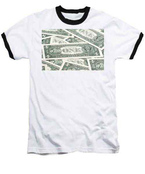 Baseball T-Shirt featuring the photograph Carpet Of One Dollar Bills by Lee Avison