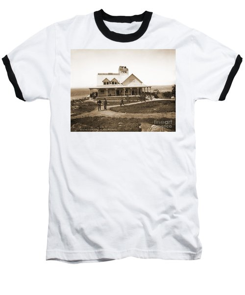 Casino At The Top Of Mt Beacon In Black And White Baseball T-Shirt