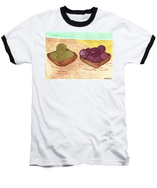Castaway Fruit Baseball T-Shirt by Tracey Williams