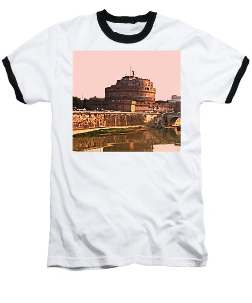 Baseball T-Shirt featuring the photograph Castel Sant 'angelo by Brian Reaves