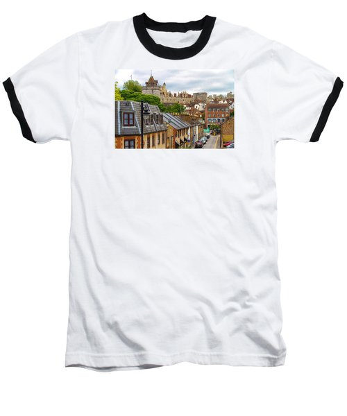 Castle Above The Town Baseball T-Shirt