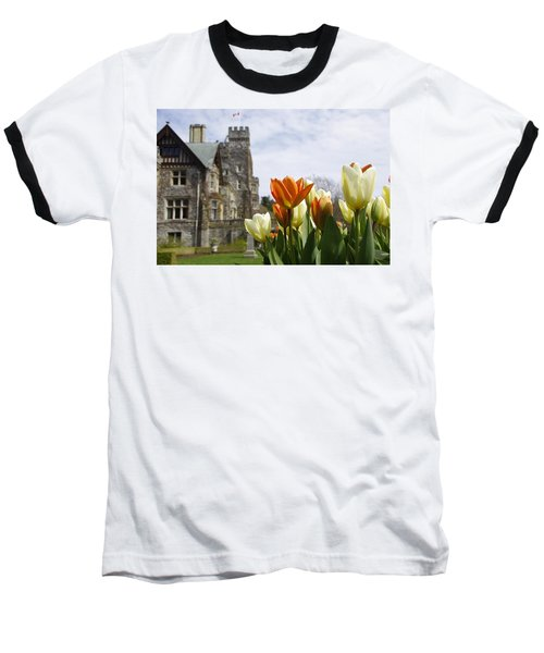 Castle Tulips Baseball T-Shirt