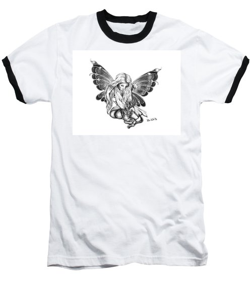 Cat Fairy  Baseball T-Shirt