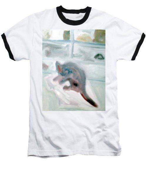 Cat In The Garage On A Mat Baseball T-Shirt