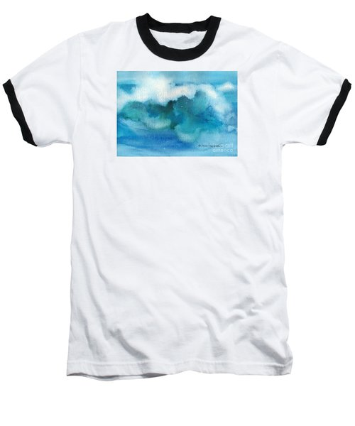 Baseball T-Shirt featuring the painting Catch The Wave by Joan Hartenstein