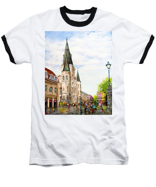 Cathedral Plaza - Jackson Square, French Quarter Baseball T-Shirt