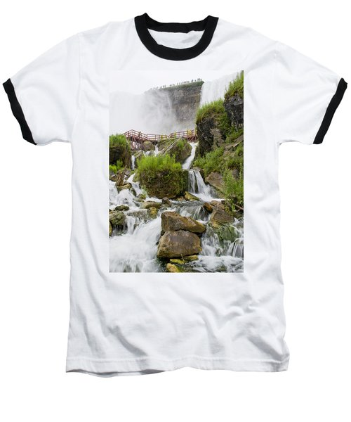 Cave Of The Winds At Niagara Falls Baseball T-Shirt