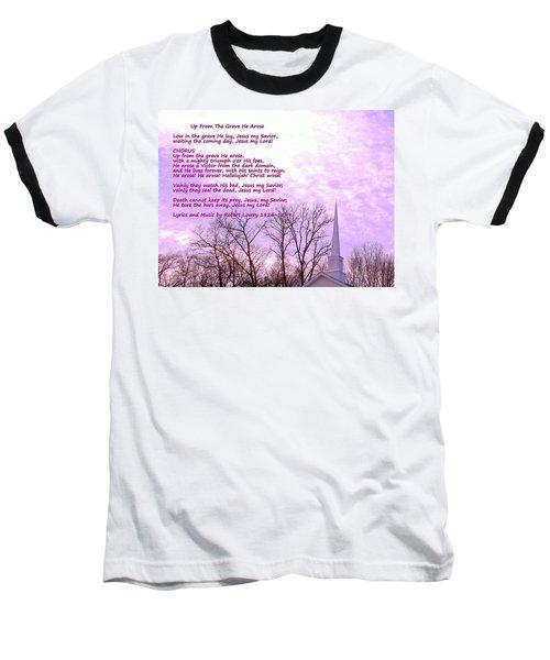 Celebrating The Resurrection Baseball T-Shirt by Pamela Hyde Wilson