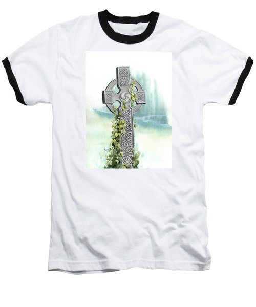 Celtic Cross With Ivy II Baseball T-Shirt
