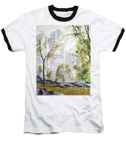 Central Park Stroll Baseball T-Shirt