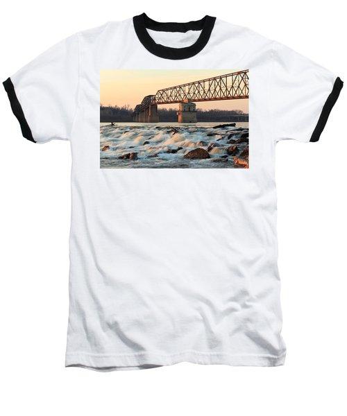 Chain Of Rocks Winter Sunset Baseball T-Shirt