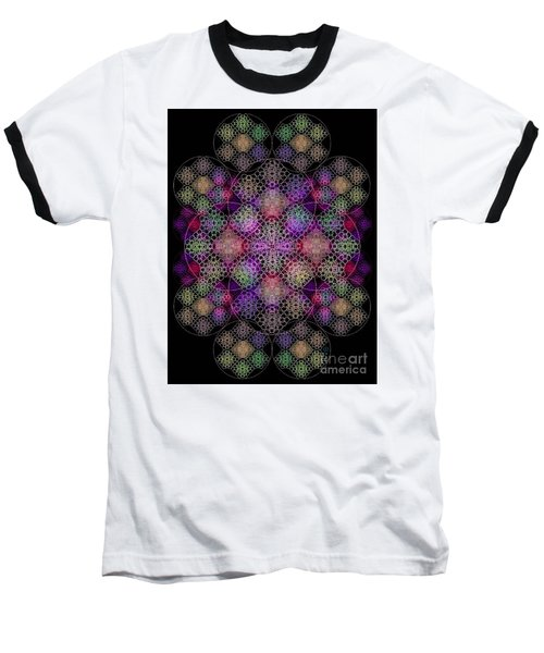 Chalice Cell Rings On Black Dk29 Baseball T-Shirt by Christopher Pringer