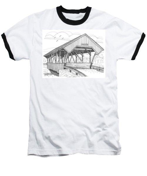 Chamberin Mill Covered Bridge Baseball T-Shirt
