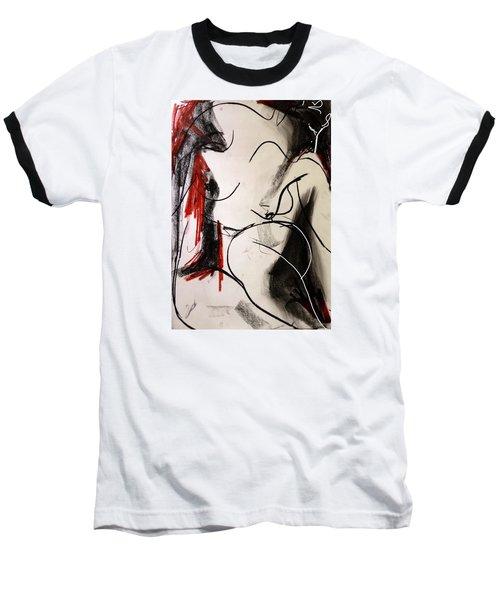 Chameleon Baseball T-Shirt by Helen Syron