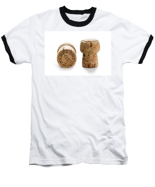 Baseball T-Shirt featuring the photograph Champagne Corks by Lee Avison