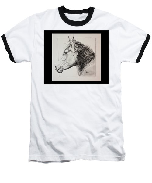 Baseball T-Shirt featuring the drawing Champion by Rachel Hames