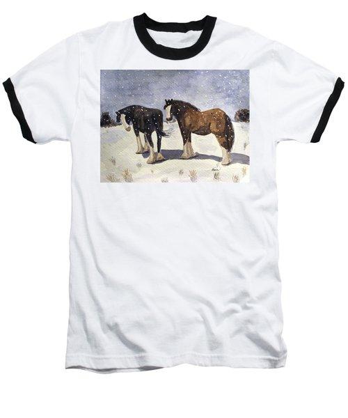 Chance Of Flurries Baseball T-Shirt
