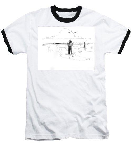 Channel Markers Ocracoke Inlet Baseball T-Shirt