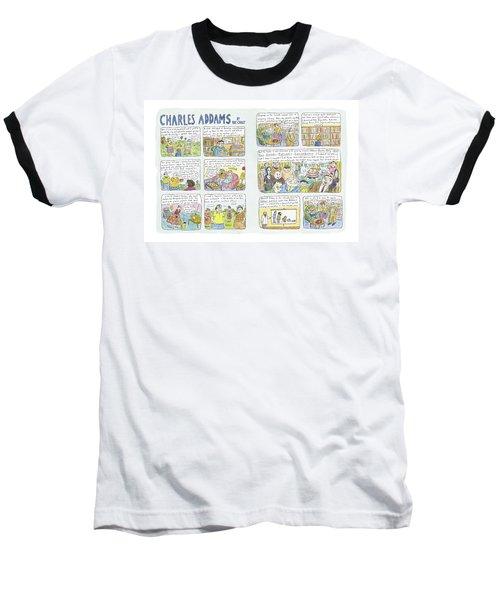 Charles Addams Baseball T-Shirt