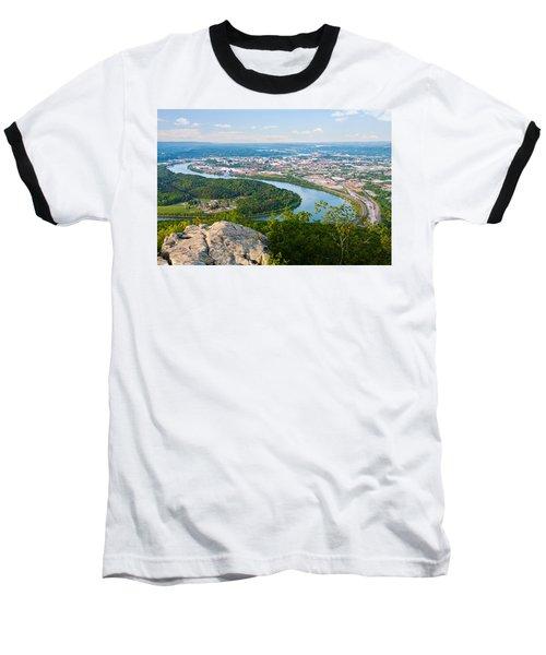 Chattanooga Spring Skyline Baseball T-Shirt by Melinda Fawver