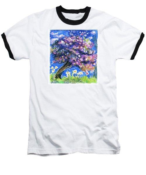 Cherry Blossom Spring. Baseball T-Shirt