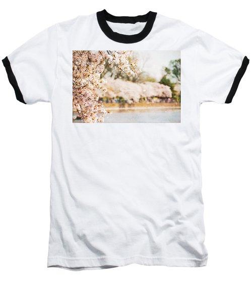 Baseball T-Shirt featuring the photograph Cherry Blossoms In Washington Dc by Vizual Studio