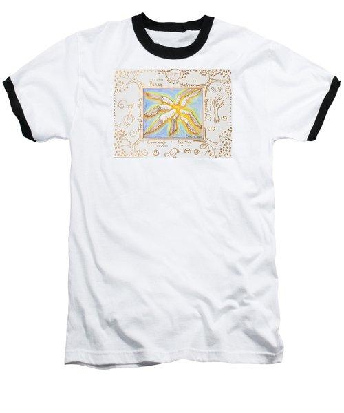 Baseball T-Shirt featuring the painting Cherubim by Cassie Sears