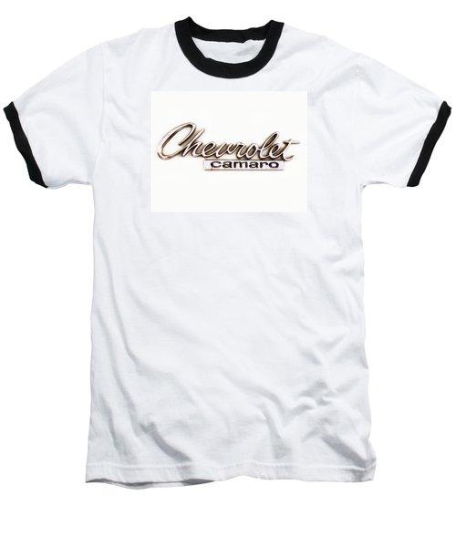 Chevrolet Camaro Emblem Baseball T-Shirt by Jerry Fornarotto