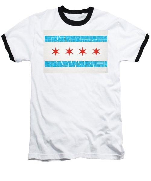 Chicago Flag Neighborhoods Baseball T-Shirt