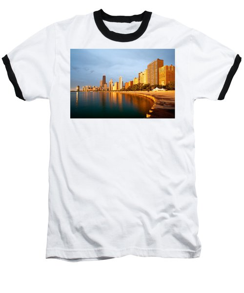 Chicago Skyline Baseball T-Shirt by Sebastian Musial