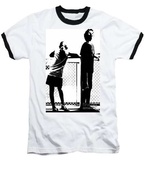 Baseball T-Shirt featuring the photograph Children On Governors Island Ferry Ride by Lilliana Mendez