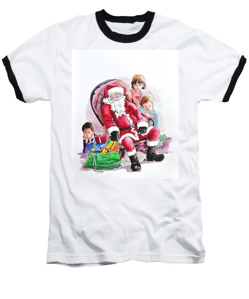 Children Patiently Waiting Up For Santa. Baseball T-Shirt