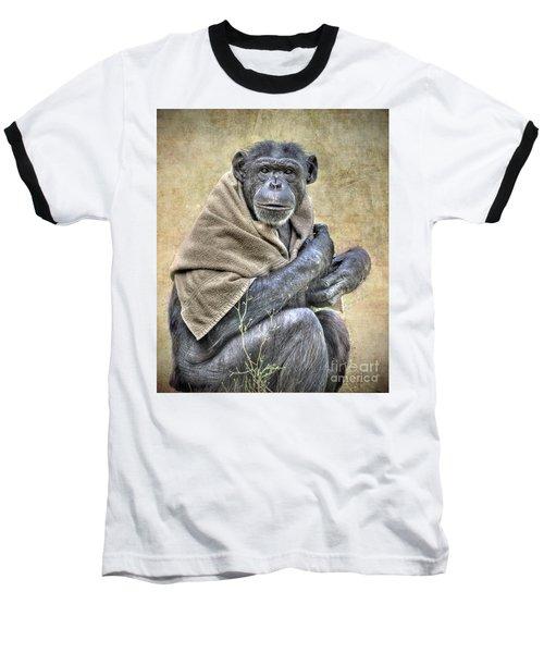 Baseball T-Shirt featuring the photograph Chimpanzee by Savannah Gibbs
