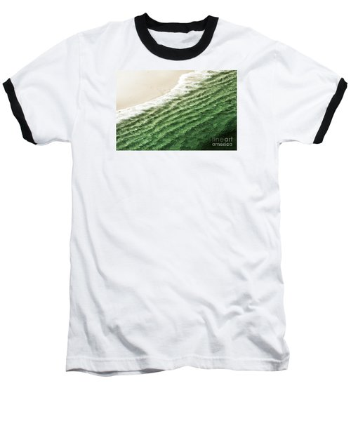 Baseball T-Shirt featuring the photograph China Beach Wave Ocean Theme Pillow Print Tote by Artist and Photographer Laura Wrede