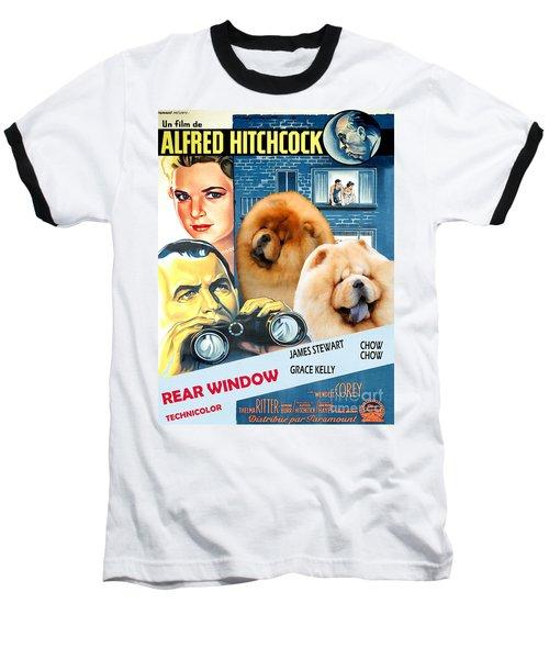 Chow Chow Art Canvas Print - Rear Window Movie Poster Baseball T-Shirt