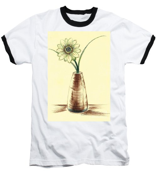 Chrysanthemum Flower Baseball T-Shirt