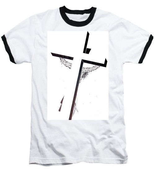 Christ On Cross Baseball T-Shirt by Justin Moore