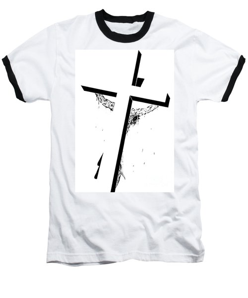 Christ On The Cross Baseball T-Shirt by Justin Moore