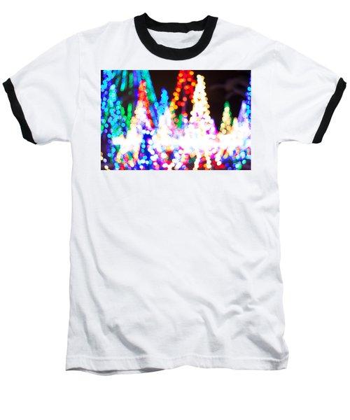 Christmas Lights Abstract Baseball T-Shirt