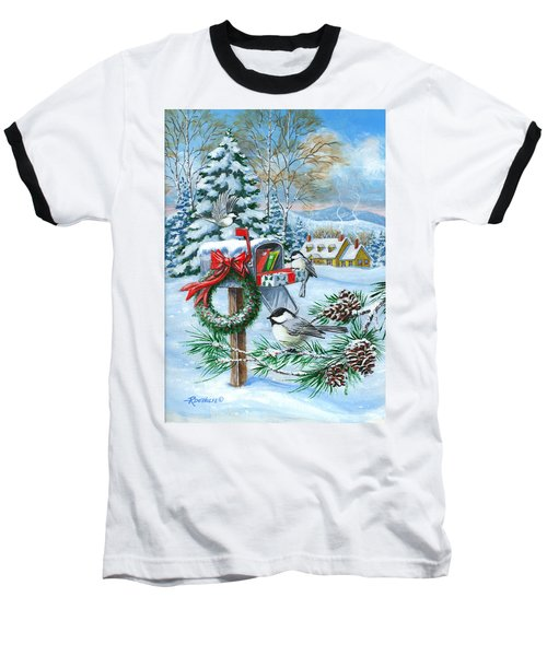 Christmas Mail Baseball T-Shirt