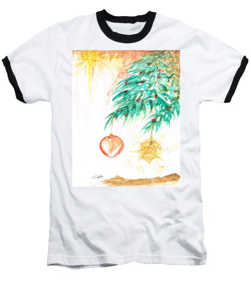 Baseball T-Shirt featuring the painting Christmas Star by Teresa White