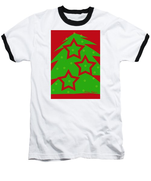 Christmas Tree Stars Baseball T-Shirt