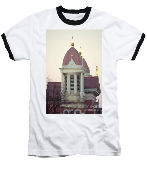 Church Of Gold Crosses Baseball T-Shirt by Maria Urso