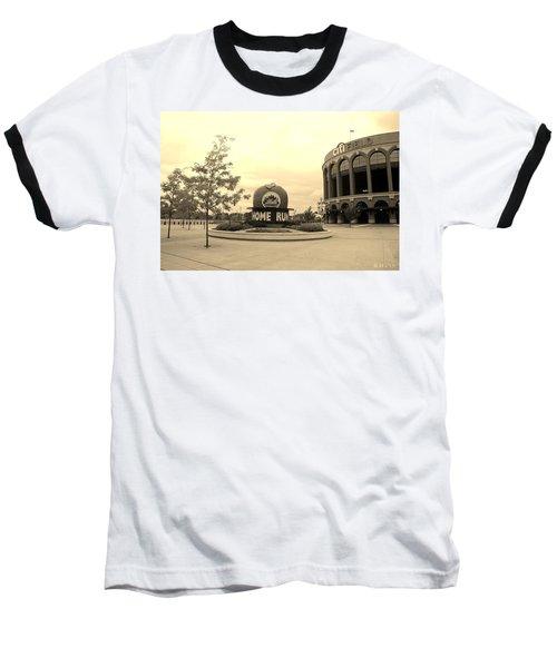 Citi Field In Sepia Baseball T-Shirt